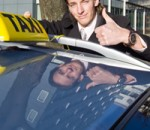 taxi business owner giving a thumbs up