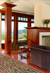 Mahogany windows & trim